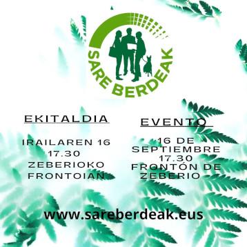 Sare Berdeak ekitaldia/evento